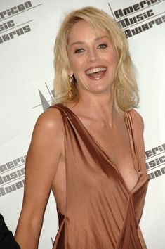 Sharon Stone Photos - Actress Sharon Stone poses in the press room at the 2006 American Music Awards held at the Shrine Auditorium on November 2006 in Los Angeles, California. Beautiful Celebrities, Beautiful Actresses, Beautiful Women, Sharon Stone Photos, Female Stars, Sexy Older Women, Blonde Beauty, Hollywood Actresses, Movie Stars