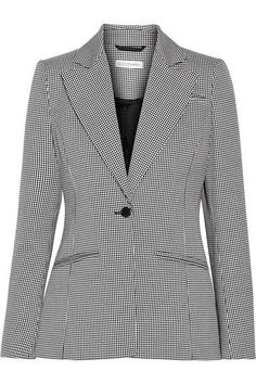 Altuzarra - Acacia Houndstooth Stretch-cotton Blazer - Black - FR38