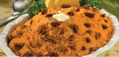 Nutty sweet potatoes. No Thanksgiving meal is complete without sweet potatoes, and modern technology makes them astonishingly easy to prepare. Simply microwave the potatoes on high for 10 to 13 minutes, combine the flesh with orange juice for a tasty twist, zest and pecans.
