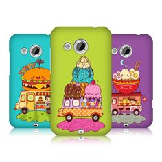 HEAD CASE DESIGNS MOBILE FOOD TRUCK SNAP-ON BACK CASE COVER FOR HTC DESIRE 200