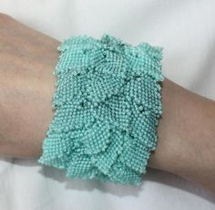 Spring Leaves Bracelet. Make a fall version with different color leaves.