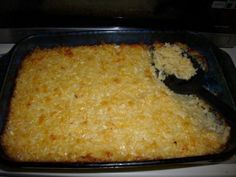 2 lbs frozen hash browns  1/2 cup margarine or 1/2 cup butter, melted  1 (10 1/4 ounce) can cream of chicken soup  1 pint sour cream  1/2 cup onion, peeled and chopped  2 cups cheddar cheese, grated  1 teaspoon salt  1/4 teaspoon