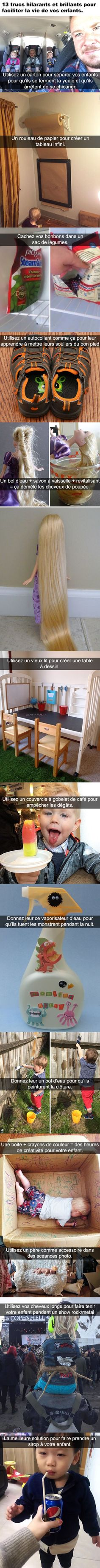 13 trucs hilarants et brillants pour faciliter la vie de vos enfants Useful Life Hacks, Simple Life Hacks, Cool Inventions, Funny Text Messages, Funny Texts, Funny Jokes, Videos Funny, Touch Me, My Children