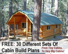 http://DIYCozyHome.com: 30 Free DIY Cabin Blueprints