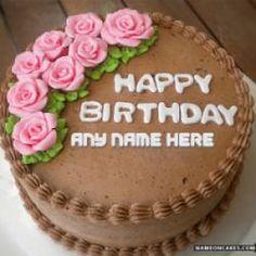 German Chocolate Birthday Cake With Name