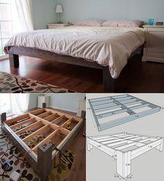 Bett-selber-bauen-für-ein-individuelles-Schlafzimmer-Design_bettgestell-selber-bauen-aus-holz