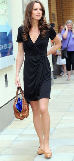beauty of a little black dress, casual Kate