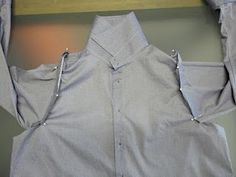 refashion men's shirt - might need to know this sometime...