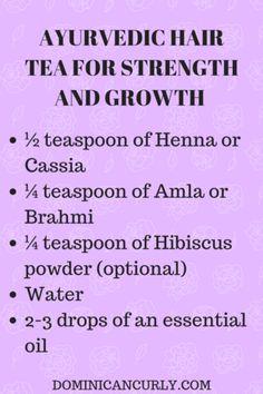 Make Ayurvedic Hair Tea with Powders