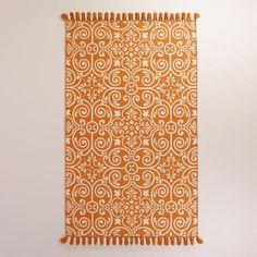 One of my favorite discoveries at WorldMarket.com: Orange Barcelona Tiles Indoor-Outdoor Rug
