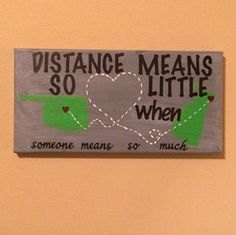 Long Distance Customized Canvas Art by ThePaisleyGirl14 on Etsy
