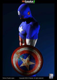 Captain America © Marvel Comics.
