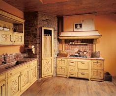 dont like the cabinets but love the little corner pantry !! i will have one just like this in my kitchen