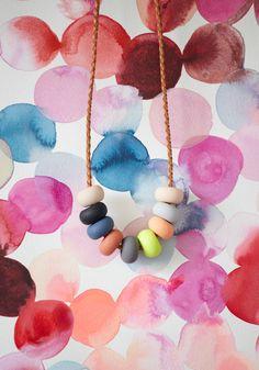 Emily Green - AVA 9 Bead Necklace