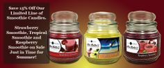Scent-Sations, Inc. - Mia Bella Gourmet Candles, Candle of the Month Program Smoothie Candles 15 % off www.miabellalife.scent-team.com