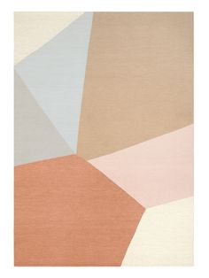This customisable design is a celebration of irregularity and compositional balance, exploring the geometry of softer angles in a multi-hued palette of textural tones. The Armadillo&Co Marle Collectionis a custom rug program available for trade professionals.  Handmade in India 80% Wool / 20% Cotton Custom size