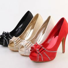 75.00$  Buy now - http://aliuvn.worldwells.pw/go.php?t=1497850315 - Satin Wedding Dress Shoes Peep Toe High Heel Bridal Shoes Platform Single Shoes Lady Evening Party Banquet Pumps For Woman