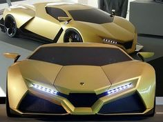 The designers claim to have been inspired by the Lamborghini Countach, though it is evident that the edgy styling of the limited production . Lamborghini Supercar, Lamborghini Concept, Maserati, Bugatti Veyron, Ferrari 458, Sweet Cars, Expensive Cars, Amazing Cars, Car Car