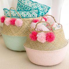 DIY Pom Pom Basket (Craft Gawker)