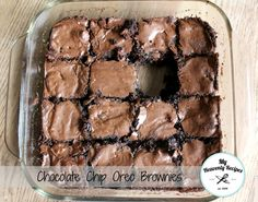 Chocolate Chip Oreo Brownies My Heavenly Recipes