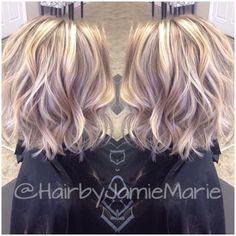 "55 mentions J'aime, 14 commentaires - JamieMarie (@hairbyjamiemarie) sur Instagram: ""Shorter hair and added texture for my client! @kerala_m #hairbyjamiemarie #tanglestotoes"""