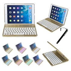 Wireless Bluetooth Keyboard Cover Stand Case F8S+ Backlight Backlit Aluminum For iPad Air 2 (iPad6) 2016 F8S+
