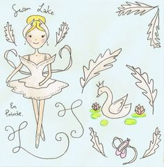 Swan Lake  Ballet illustration