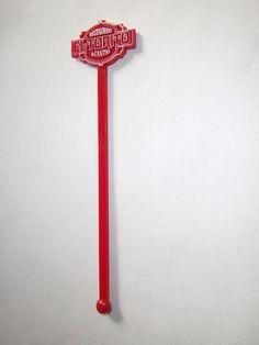 El Torito Restaurant & Cantina Vintage Swizzle Stick Drink Stirrer Red Plastic