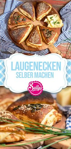 LAUGENECKEN SELBER MACHEN / Sallys Welt Hearty bases like the bakery. The yeast dough is buttered and layered before baking. So the lye corners inside [. Brunch, Pampered Chef, Party Snacks, Scones, Food Inspiration, Muffins, Bakery, Food Porn, Food And Drink
