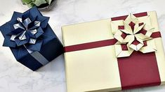 GIFT BOX WRAPPING IDEAS   HOW TO WRAP A GIFT with ORIGAMI FLOWER (Hydra... Birthday Wrapping Ideas, Gift Wrapping Bows, Present Wrapping, Gift Bows, Origami Gift Box, Jesus Birthday, Origami Flowers, Diy Gifts, Diy And Crafts