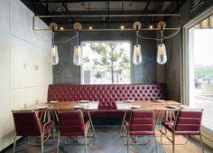 Pareti curve per creare nicchie private in un ristorante a Shanghai - Elle Decor Italia