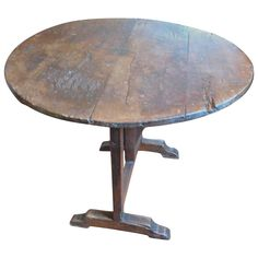 Wine Tasting Table | From a unique collection of antique and modern dessert tables and tilt-top tables at https://www.1stdibs.com/furniture/tables/tilt-top-tables-dessert-tables/