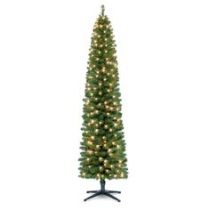 Celebrate It Pre-Lit Pencil Christmas Tree, 7 ft. All Things Christmas, Winter Christmas, Winter Holidays, Christmas Holidays, Merry Christmas, Christmas Ideas, Happy Holidays, Holiday Ideas, Tall Skinny Christmas Tree