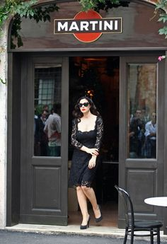 Dolce e Gabbana Bar Martini in Milan, Italy with Monica Bellucci #myhomeinMilan