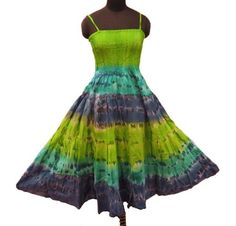Ibaexports Green Pure Cotton Dress Women Wear Beachwear Sundress Casual Clothing Gift Size- M « Clothing Impulse