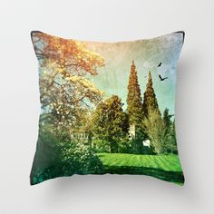 Dreamland  Throw Pillow by Post Haste Art - $20.00