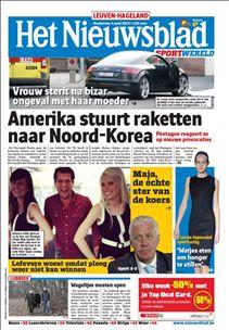 Het Nieuwsblad. Plaats: krantenstok.