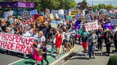 The US state department is warning an Auckland TPP protest, similar to this one in Christchurch, could pose a security risk to US citizens.