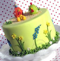 Easter at chicken run  Cake by Tortentante