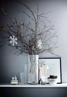 9 Nordic deco ideas for a chic Christmas (Daily Dream Decor) Christmas 2017, Christmas And New Year, Simple Christmas, White Christmas, Christmas Crafts, Christmas Trees, Christmas Lights, Ideas Decoracion Navidad, Turbulence Deco