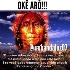 OKÊ ARÔ!! Mg.'. Luz da Umbanda  T.'. A.'.M.'. #luzdaumbanda #umbandaluz07 #caboclos by umbandaluz07