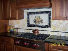 Kitchen Backsplash custom designed by Serendipity Refined.