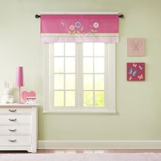 Stop to smell the flowers with our Flower Power window valance, perfect for your little flower child. Colorful flowers are embroidered and appliqued for an adorable design, while plush mink fabric create soft texture and dimension for a fun update.
