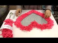 Stair Rods For Carpet Runners Diy Pom Pom Rug, Pom Pom Crafts, Diy Arts And Crafts, Diy Crafts, Yarn Crafts, Diy Tapis, Crochet Mat, Latch Hook Rugs, Rug Hooking