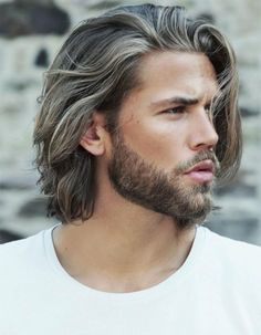gorgeous mens hairstyles for medium long hair #cool #hairstyles #men #ideas