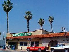 Mitla Cafe was established in 1937 and has been a family owned Route 66 business ever since. It is these mom and pop businesses that made Route 66 the fabled road it became. Route 66 exemplifies the rugged entrepreneurial spirit of the American Dream. After eating lunch there I can understand why it is so popular. It was great. If ever you are in the area on Route 66 and are hungry this is the place to go if you like Mexican cuisine. The Chili Rellanos are delicious.