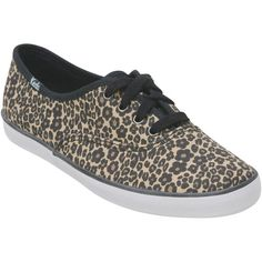 Keds Women's Champion Leopard Canvas Sneaker ($40) ❤ liked on Polyvore featuring shoes, sneakers, sapatos, vans, chaussures, brown, lace up sneakers, slip-on shoes, brown slip on shoes and leopard sneakers
