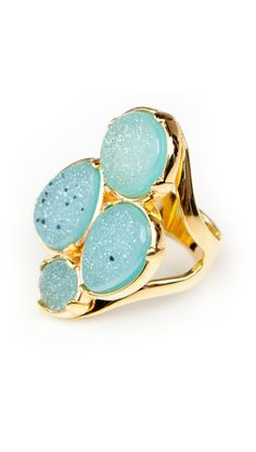 Four Druzy Ring by Marcia Moran
