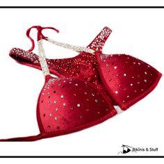 This #redvelvet Fitness Suit is still available on 50% SALE!  _________________________________________________________ www.BikinisAndStuff.com #fitnessbikini #fitnesscompetition #redvelvet Fitness Competition, Bikini Workout, Red Velvet, Suits, Bikinis, Bikini, Suit, Wedding Suits, Bikini Tops