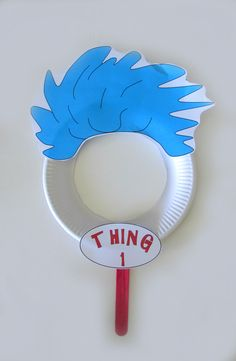 FREE Thing 1 resource. Dr Seuss masks that are super easy to make with TeachEzy Dr Seuss resource. www.teachezy.com www.earlychildhoodteachezy.com